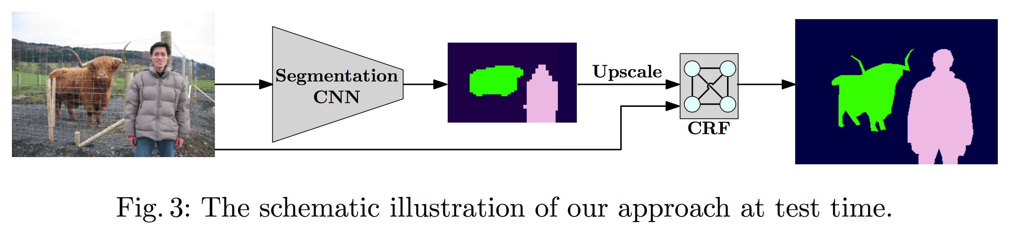 The schematic illustration of our approach at test time